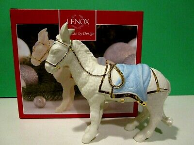 LENOX FIRST BLESSING Nativity DONKEY sculpture NEW in BOX