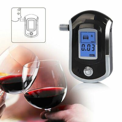 LCD Display Alcohol Tester Professional Digital Breathalyzer With 5 Mouthpieces