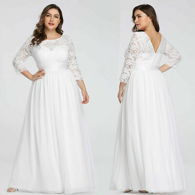 Ever-Pretty US Long Evening Dress Lace 3//4 Sleeve Bridesmaid Wedding Gowns 07412