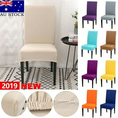 6/10PCS Spandex Dining Chair Covers Stretch Slip Cover Wedding Banquet Party AU