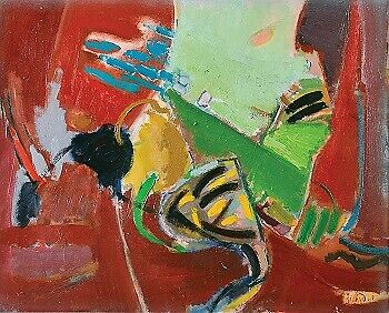 Untitled by Moshe Rosentalis, Oil on Canvas, 60X73 cm, Signed by Artist