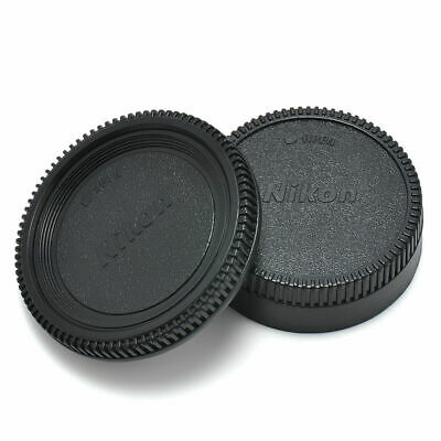 Body Front + Rear Lens Cap Cover For Nikon AF AF-S Lens DSLR SLR BLACK Camera