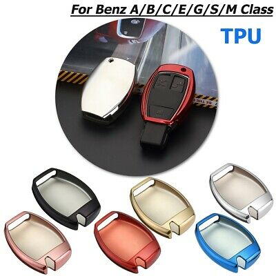 TPU Remote Key Cover Fob Case Shell For Mercedes-Benz A B C E G S M GL AMG Class