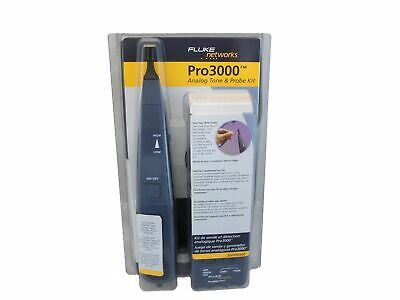 New Fluke Networks PRO 3000 Tone Generator w/ Probe Kit 26000900 641676228871