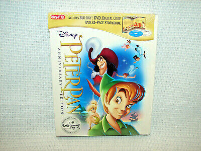 Peter Pan Blu-ray + DVD + Digital Code + Storybook Anniversary Edition *NEW*
