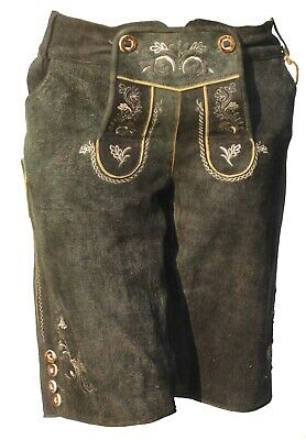 Marjo Ladies Lederhose Costume Trousers (Size 46) Anthracite