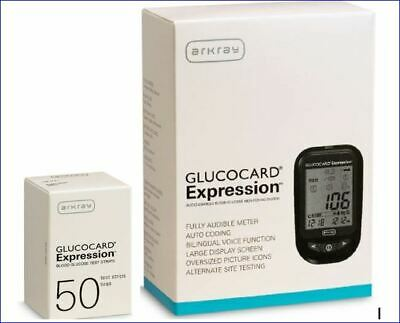 Glucocard® Expression Blood Glucose Meter Kit + 50 Test Strips Bundle