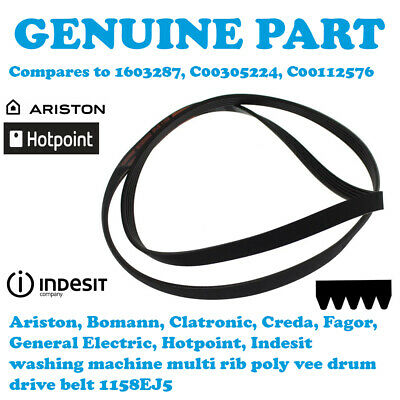 HOTPOINT WF720P/SC Washing Machine Poly Vee Drive Belt 1158EJ5 C00112576