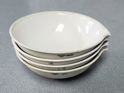 Lot of 4 Coors Porcelain Evaporating Lab Bowls Dish - 385mL