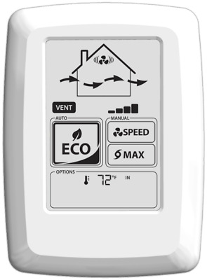 Fantech ECO-Touch Programmable Touch Screen Wall Control