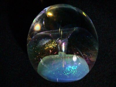 Eickholt Dichoric Art Glass Crystal Ball Paperweight, Signed & Dated 1987 (196)