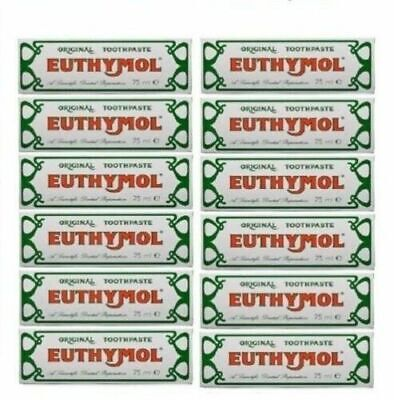 12 x Euthymol Original Toothpaste 75ml - (12 Pack)