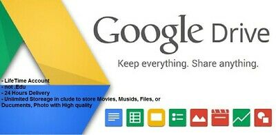 Unlimited Google Drive Cloud Storage Account [Lifetime] INSTANT DELIVERY! [SAFE]