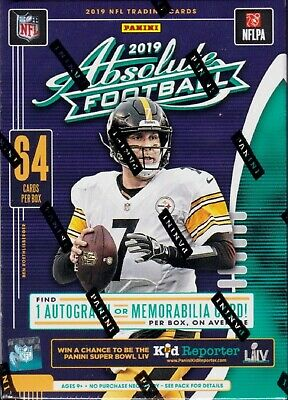 2019 Absolute Football sealed blaster box 8 packs of 8 NFL cards 1 hit