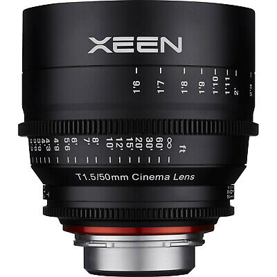 Rokinon Xeen 50mm T/1.5 T1.5 Pro Cine Lens for Video Digital SLR Canon EF Camera