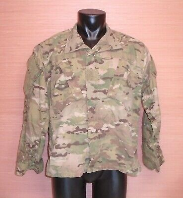 US Military Issue Multicam OCP Camo Army Combat Coat Jacket FR Sz Large X-Short