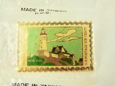Vintage USPS Lapel Pin Maine Statehood Stamp Collectible Post Office Memorabilia