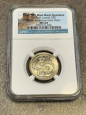 2019 W LOWELL Nat'l Park Quarter WEST POINT, Great American Coin Hunt NGC MS-64