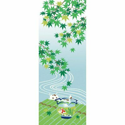 Japanese Tenugui picture towel Summer landscape and fishbowl made in Japan