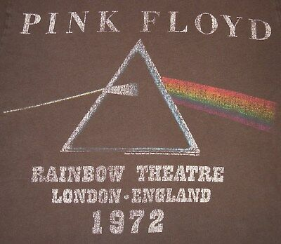 Pink Floyd - Rainbow Theatre London 1972 Dark Side of the Moon t-shirt - S/M