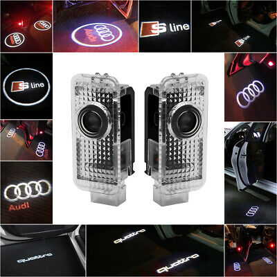 AUDI CREE LED Projector Car Door Lights Shadow Puddle Courtesy Laser LOGO Lamp