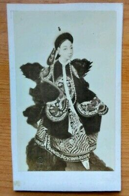 Antique Chinese Imperial Dowager Cixi Early Photo Empress Of China