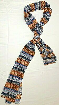 Scarf Multi color Geo Shape Silk style long rectangle lightweight patterned