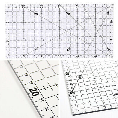 Grid Cutting Craft Scale Ruler Multifunction Transparent Sewing Patchwork Ruler
