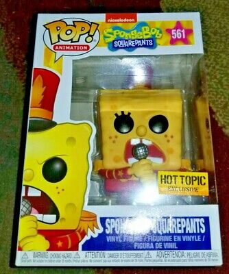 Funko Pop! Animation 561 Spongebob Squarepants Band Outfit Hot Topic Exclusive
