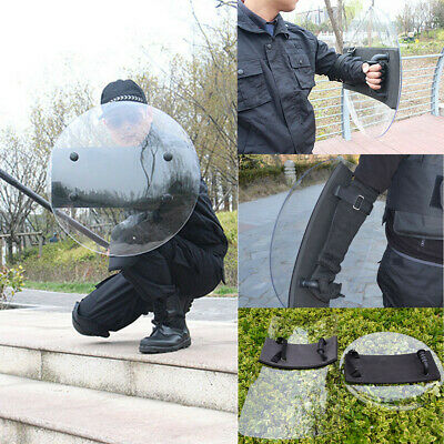 Transparent PC Hand-held Shield Police SWAT Riot Shield For Security