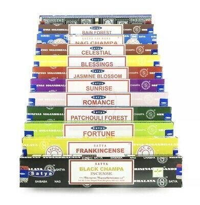 Satya Nag Champa Assorted Variety Incense Sticks 12 Packs X 15g