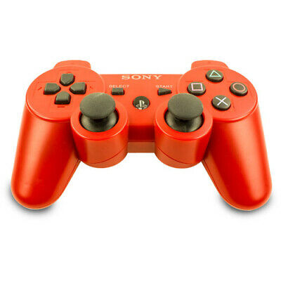 Original Sony Playstation 3 Wireless Dualshock 3 Controller in Rot - PS3