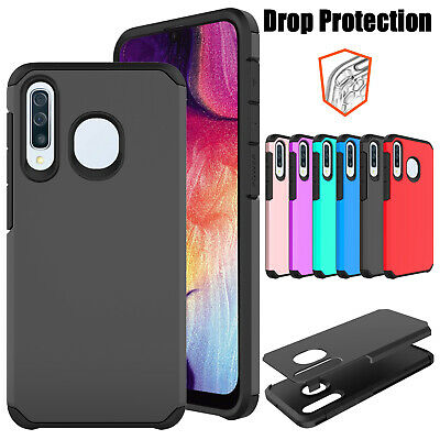 For Samsung Galaxy A20  Dual Layer Shockproof Hybrid Armor Rubber Case Cover