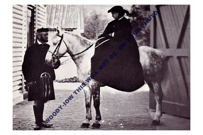 Queen Victoria and John Brown by C B Barber Kilt Black Horse 8x10 Print 0239