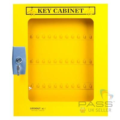 Electrical Lockout Tagout Key Cabinet with Clear Fascia - holds upto 60 Keys