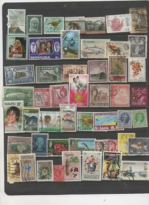 British Commonwealth collection of 50 used Stamps all different