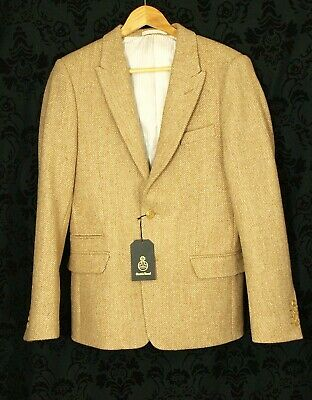 Modern Quality BNWT Mens Harris Tweed Blazer Jacket Size XS Extra Small