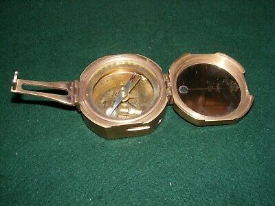 Lovely Stanley Of London Natural Sine Compass Nautical Solid Brass Mirror