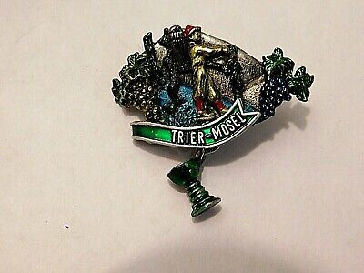 Vintage German Bavarian Octoberfest Hat Pin Brooch - TRIER-MOSEL