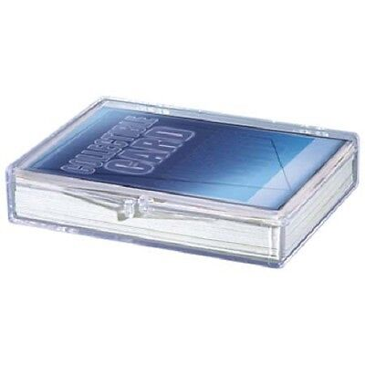 Lot of 15 Ultra Pro 35ct Count Hinged Clear Card Storage Box Boxes New