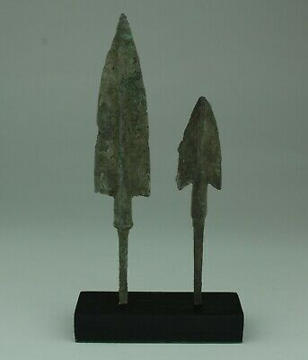 2 X Museum Quality Luristan Bronze Age Arrowheads 1200-800Bc   014