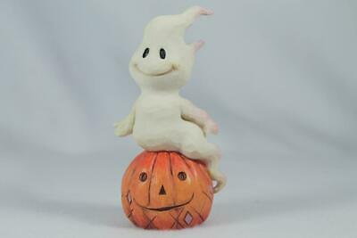Jim Shore 'Ghost And Pumpkin' 2019 Mini Collection #6004329 New In Box!