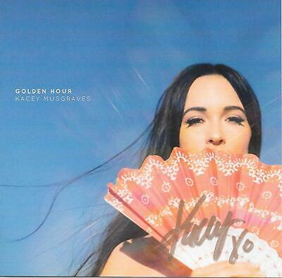 Golden Hour CD with the booklet autographed by country singer Kacey Musgraves