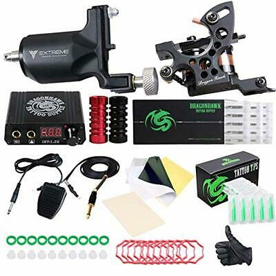 Dragonhawk Extreme Tattoo Kit 2 Pro Tattoo Machines Rotary Machine Coil Gun Powe