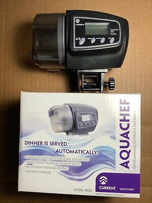 Current USA   Aquachef   #8024   Programmable Automatic Fish Feeder   Old-Stock