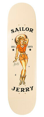SAILOR JERRY Tattoo Sexy Cowgirl Pin Up Art Collective Skate Board Deck NEW