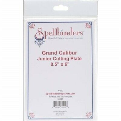 Spellbinders Grand Calibur Junior Cutting Plate 8-1/2 Inchit x 6 Inchis, Clear