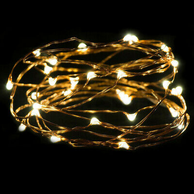 LEDs Battery Operated Mini LED Copper Wire String Fairy Lights Warm For Party
