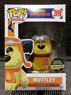 Funko Pop! Animation Muttley Flocked Wacky Races #39 Gemini Collectibles Excl.