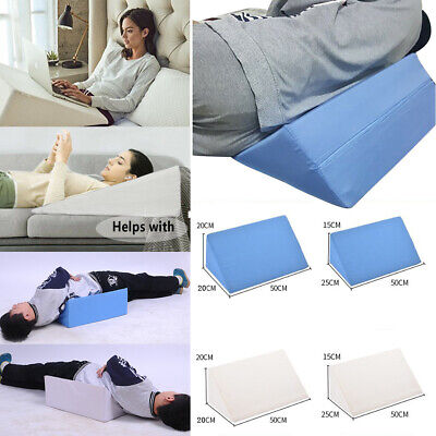 Wedge Pillow Sponge Support Bed Wedge Pillow Removable Zip Cover Leg Back Pain
